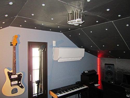DAWスタジオの内観