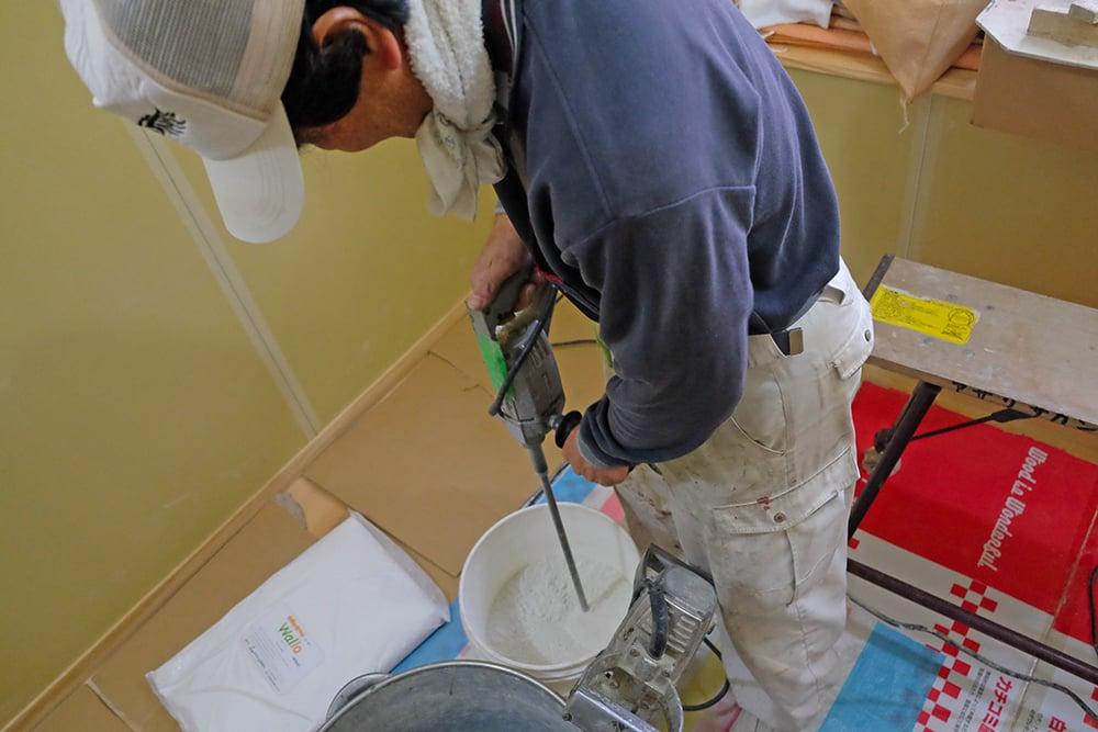 珪藻土の準備
