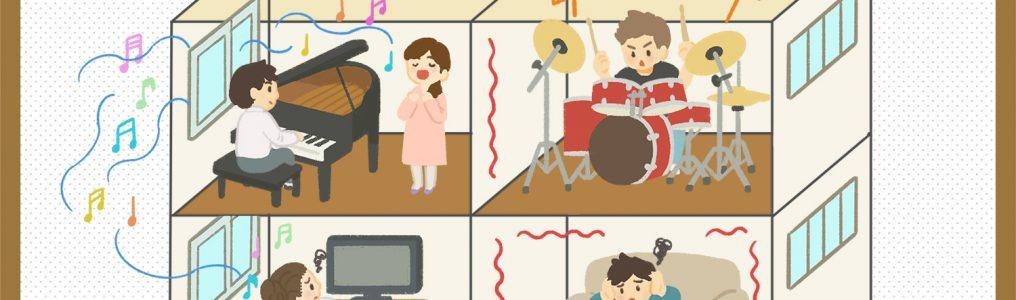 ドラムの音の伝わり方